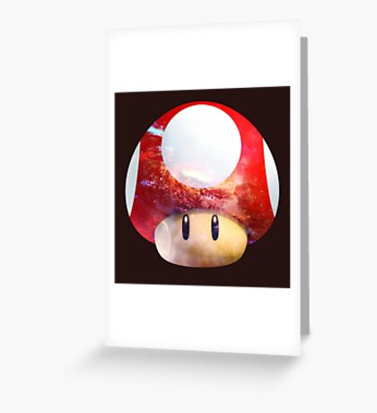 Hype Mario Shroom Greeting Card