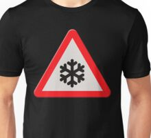 UK Road sign wintry conditions Unisex T-Shirt