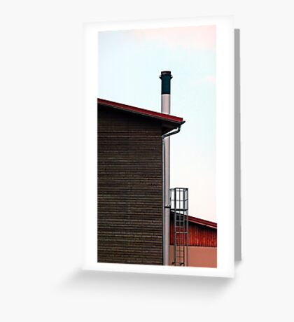 Some boring building with a chimney | architectural photography Greeting Card