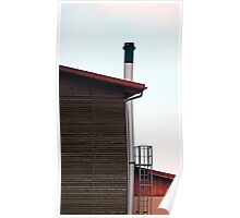 Some boring building with a chimney | architectural photography Poster