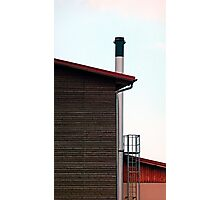 Some boring building with a chimney | architectural photography Photographic Print