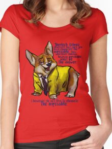 Dirk Gently's Holistic Detective Agency: Corgi Women's Fitted Scoop T-Shirt
