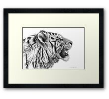 White Tiger profile G01 by schukina Framed Print