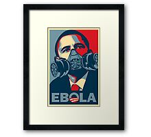 EBOLA - Obama HOPE Framed Print