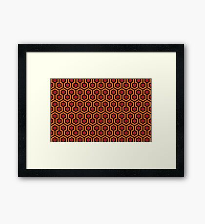 The Shining - Overlook Hotel Carpet pattern Framed Print