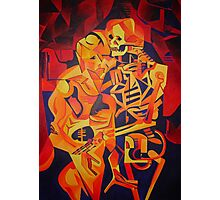 A Skeleton and A Corpse Embracing Death Photographic Print