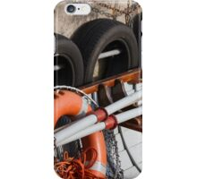 Boat with buoy and wheel iPhone Case/Skin