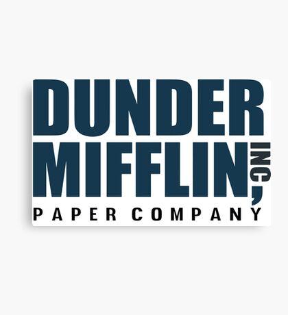 Dunder Mifflin - The Office - Logo  Canvas Print