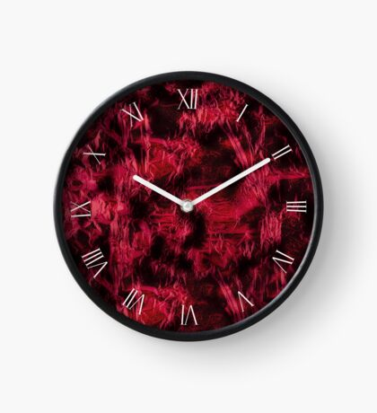 Dark claret stained texture abstract Clock