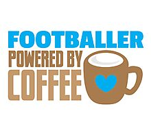 footballer powered by coffee Photographic Print