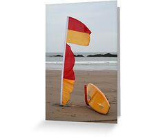 Coast Guard surfboard Greeting Card