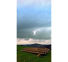 Heavy clouds with some timber   landscape photography Photographic Print