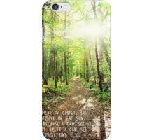 Sunlit Path- I believe in Christ iPhone Case/Skin