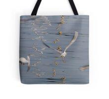 seagull on lake Tote Bag