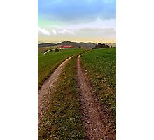 Hiking in autumn with some clouds   landscape photography Photographic Print
