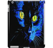 Marley The Cat Portrait With Striking Yellow Eyes iPad Case/Skin