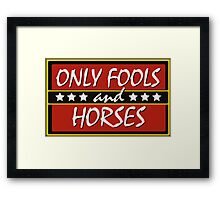 Only Fools And Horses Funny British TV Show Shirts Framed Print