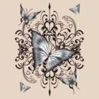 Black Butterfly Dreams .. tee shirt by LoneAngel