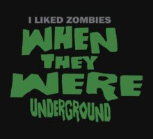 I Liked Zombies When They Were UNDERGROUND - Night Of The Living Dead PARODY by shirtsforshirts