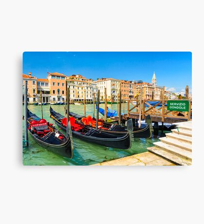 Gondolas on the Grand Canal in Venice, Italy Canvas Print