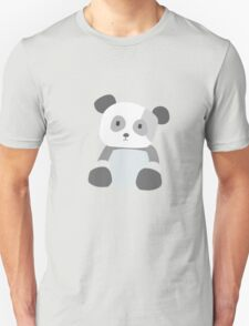Panda Vector - Large - Gray, White, Green Unisex T-Shirt