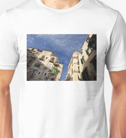 Skyward in Naples Italy - Spanish Quarters Take One Unisex T-Shirt