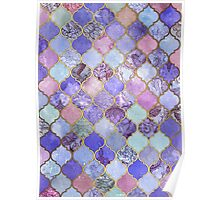 Royal Purple, Mauve & Indigo Decorative Moroccan Tile Pattern Poster