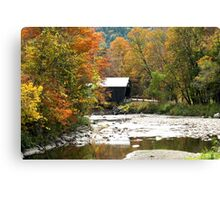 Autumn at Moxley Bridge, Chelsea Vermont Canvas Print