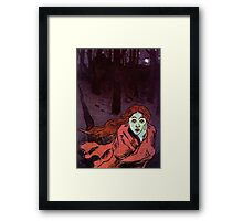 The Chase - Running Away From Fear Framed Print