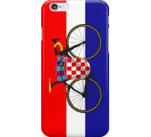 Bike Flag Croatia (Big - Highlight) iPhone Case/Skin
