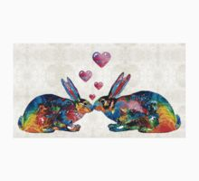 Bunny Rabbit Art - Hopped Up On Love - By Sharon Cummings Kids Clothes