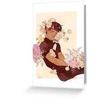 Phichit + Flowers + Hamsters Greeting Card