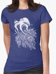 Deep Cloud Womens Fitted T-Shirt