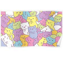 Pastel Kitties Poster