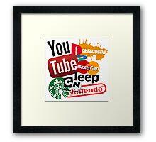 Logo Sticker Mashup Collage  Framed Print