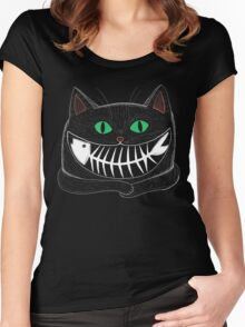 Fish Eating Grin Women's Fitted Scoop T-Shirt