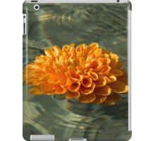 Floating Autumn - Chrysanthemum Blossom in the Fountain iPad Case/Skin