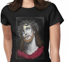 Artful Jesus Womens Fitted T-Shirt
