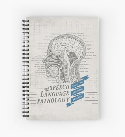 Speech Language Pathology Antique Anatomy Spiral Notebook