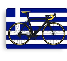 Bike Flag Greece (Big - Highlight) Canvas Print