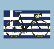 Bike Flag Greece (Big - Highlight) Kids Clothes