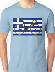 Bike Flag Greece (Big - Highlight) Unisex T-Shirt