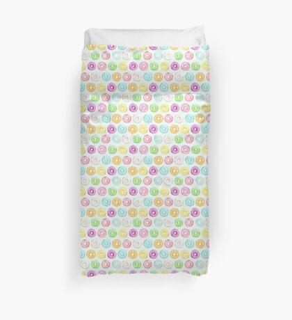Watercolor donuts sprinkles Pattern Duvet Cover