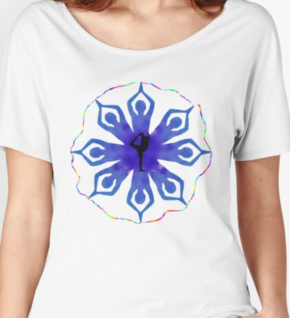 Yoga flower Women's Relaxed Fit T-Shirt