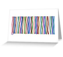 Bold Cool Color Sticks  Greeting Card