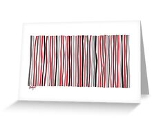 Red Black and Gray Color Sticks Greeting Card