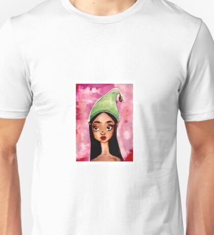 Watercolour jingle bell elf  Unisex T-Shirt