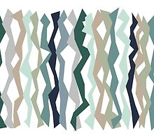 Mint and Blues Color Sticks by Patricia Lintner