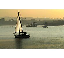 Sunset sailing Photographic Print