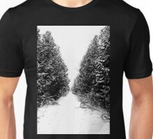Winter Trail In Black And White Unisex T-Shirt